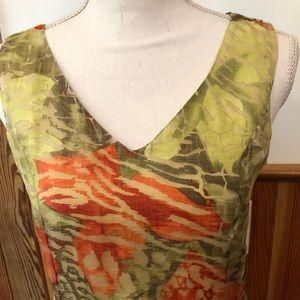 CHIANTI Flowy Chiffon Layered Dress